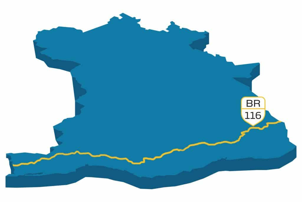 maior rodovia do mundo - tipos de vias